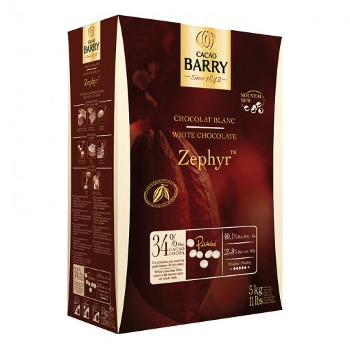 Cacao Barry Zepher White Chocolate Pistoles 34 11 Lbs