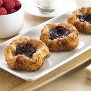 Mini Raspberry Crown Danish - 1.5 oz