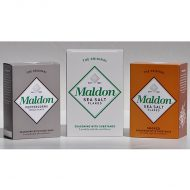 Maldon Triple Gift Pack - 4.4 oz Sea Salt, 4.4 oz Smoked Sea Salt, 1.4 oz Black Peppercorns