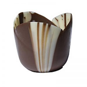 """Petite Four Tulip Marbled (1.36-1.4"""" H, 1.48-1.52"""" Dia., .5 oz)"""