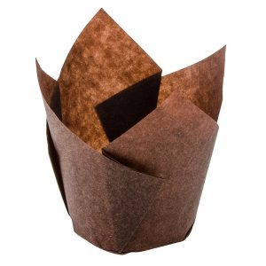 Tulip-Shaped-Brown-Baking-Cup