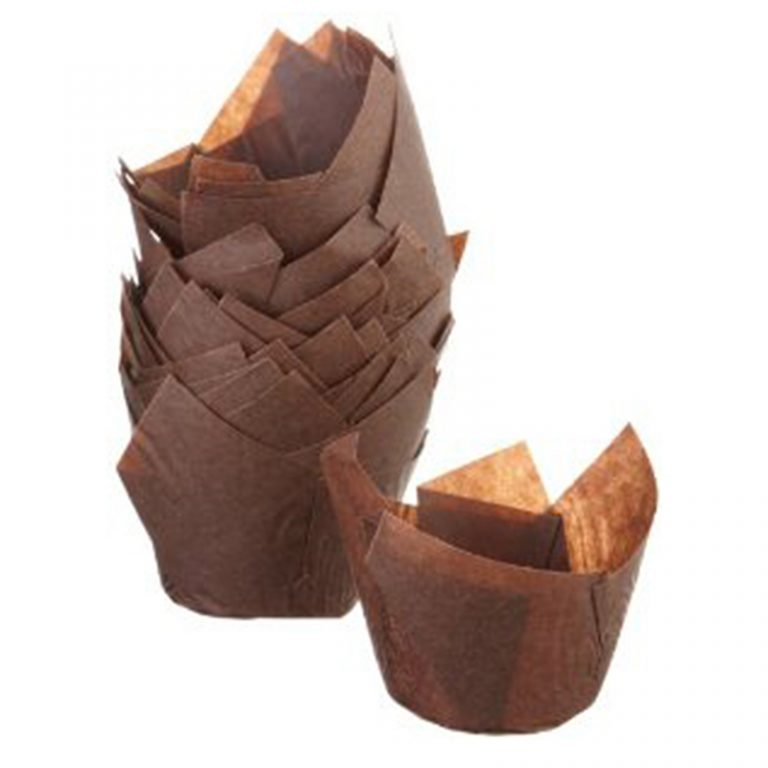 Mini-Tulip-Shaped-Brown-Baking-Cup