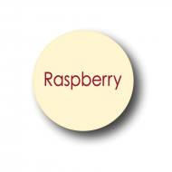Raspberry White Chocolate Round Label 240 Pcs