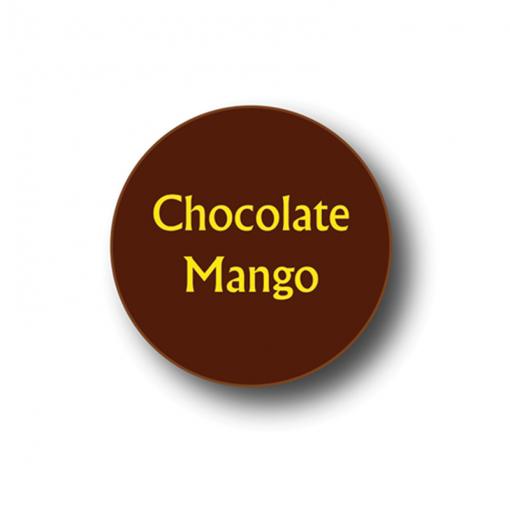 Chocolate Mango Dark Chocolate Round Label 240 Pcs